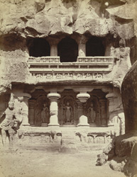 Shrine of the River Goddesses - north side of Kailas Court [Kailasanatha Cave Temple, Cave XVI, Ellora]
